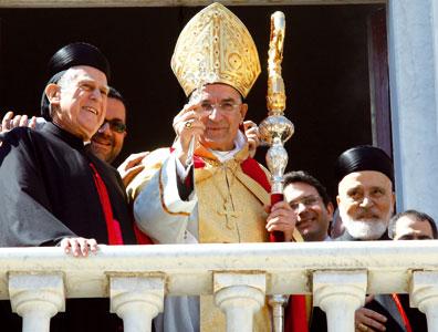 Béchara Raï subito dopo la sua elezione a patriarca di Antiochia dei Maroniti, il 15 marzo 2011 <BR>[© STR New/Reuters/Contrasto]