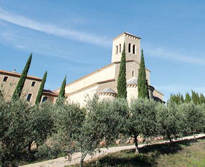 La chiesa di Le Barroux [© Massimo Quattrucci]