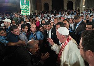 Papa Francesco incontra i rifugiati e i giovani disabili, Betania oltre il Giordano, Sabato 24 maggio