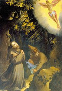 San francesco riceve le stimmate