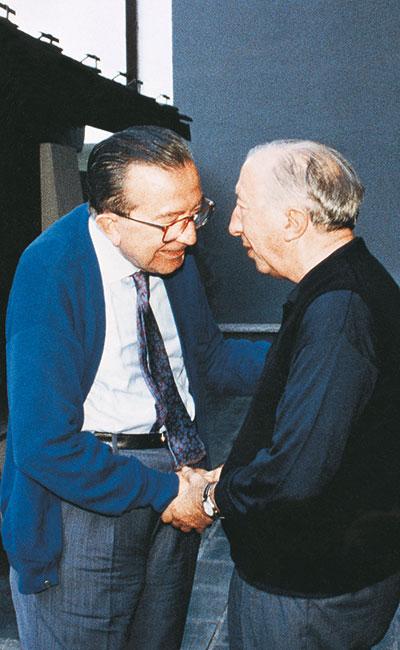 Giulio Andreotti and Don Luigi Giussani
