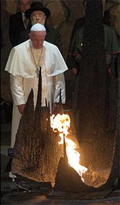 Papa Francesco al Memoriale di Yad Vashem, Gerusalemme, Lunedì 26 maggio