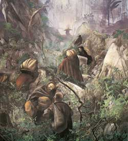I sette santi fondatori, particolare, Pietro Annigoni (1985),<br /> convento di Monte Senario, Firenze