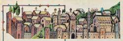 Firenze medioevale in una miniatura conservata nella Biblioteca Vaticana