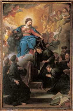 I sette santi fondatori (XVIII secolo), A. Masucci, chiesa di San Marcello al Corso, Roma