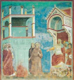 St. Francis beor the Sultan, The stories of saint Francis, Giotto, upper Basilica, Assisi
