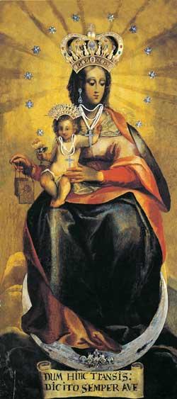 L'immagine miracolosa della Madonna del Carmine conservata nel santuario