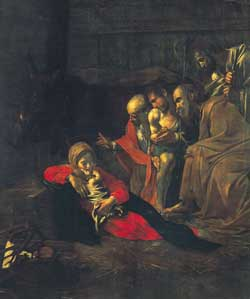 The Adoration of the Shepherds, Caravaggio, 1609, National Museum of Messina