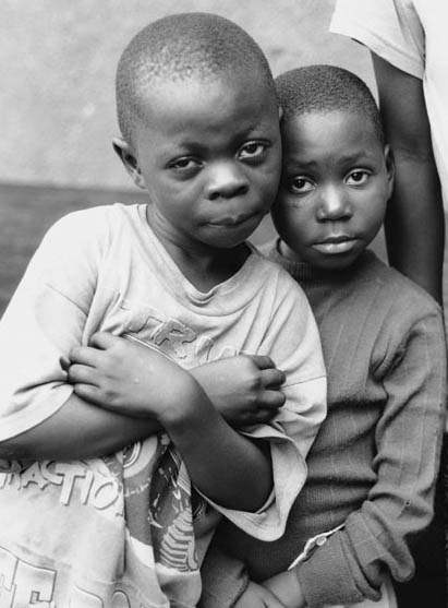 Two street's kids of Kinshasa