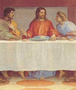 On this page, some details from the Last Supper, Andrea del Sarto, Museo 