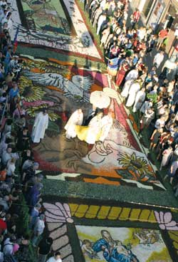 "The ""Infiorata"", the flower display in Genzano on the feast of Corpus Christi"