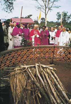 Pope Paul VI in Namugongo
