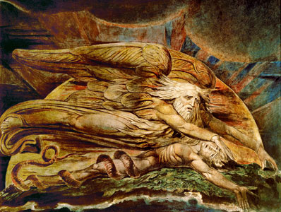 <I>Élohim crée Adam</I>, détail, William Blake (1757-1827), aquarelle et encre, Tate Gallery, Londres