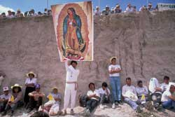 Mexican Catholics during a pilgrimage 