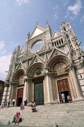 The facade of Siena Cathedral