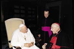 John Paul II and Cardinal Bafile on July 4