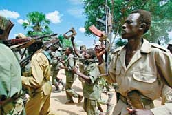 Guerrillas of the SPLA (Sudan People's Liberation Army)