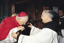 Cardinal Marc Ouellet during the ceremony of taking possession of the title to Santa Maria in Traspontina, Sunday 26 October 2003
