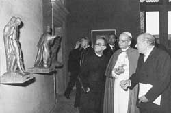 The inauguration of the Gallery of modern sacred art in the Pontifical Museums on 23 June 1973