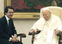 John Paul II with José Maria Aznar, 23 January 2004