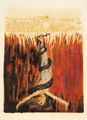 Immortals who fall into the abyss, from the <I>Book of Urizen</I>, William Blake, 1794