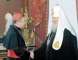 The meeting between the Patriarch of Moscow Alexis II and Cardinal Walter Kasper on 22 February 2004