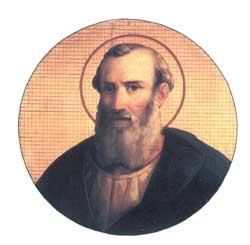 No baixo-relevo em círculo, uma representação do papa Vítor I