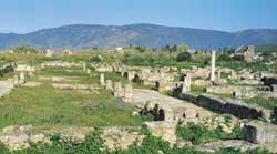 Os restos arqueológicos da antiga cidade de Hipona, na Argélia