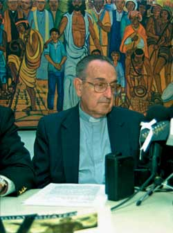 Monsignor Juan José Gerardi assassinated in April 1998