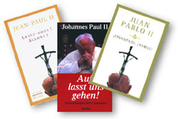 The cover of <I>Arise, let us go! </I>by John Paul II, in French, German, and Spanish
