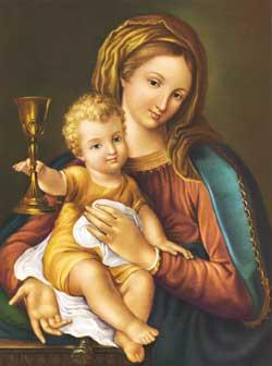 La Regina del Preziosissimo Sangue, l'immagine che san Gaspare portava nelle missioni