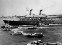 On 7 October 1985 a Palestinian squad took command of the cruise ship Achille Lauro when it lay offshore Egypt with 454 people on board. Above, the Achille Lauro escorted as it leaves Port Said