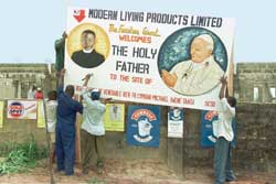 Preparations for John Paul II's visit to Abuja in Nigeria in March 1998. Lajolo states: