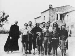 Giovanni Battista Montini in a suburb on the outskirts 