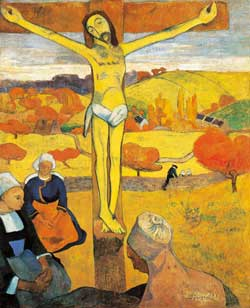 The yellow Christ, Paul Gauguin, oil on canvas, 1889, Albright Knox Art Gallery, Buffalo, New York