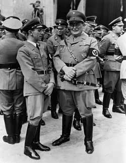 Hermann Göring with Joseph Goebbels in 1936