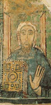 Saint Cyril in a 9th century fresco in the Basilica of San Clemente in Rome