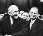 Robert Schuman com Alcide De Gasperi