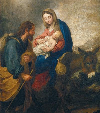 Bartolomé Esteban Murillo, <I>Descanso na fuga para o Egito</I>, Museu Puskin, Moscou [© Foto Scala Firenze]