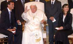 Newly appointed Foreign Minister Walker with John Paul II, 7 October in the Vatican