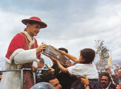 Paul VI with the campesinos of Bogotá 23 August 1968