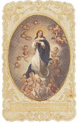 The Immaculate Conception, French holy picture of the middle of the 19th century