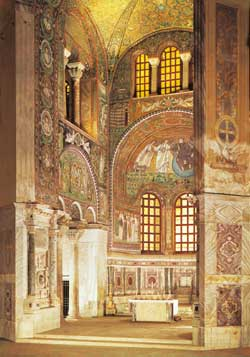 the apse of  the Basilica of San Vitale in Ravenna