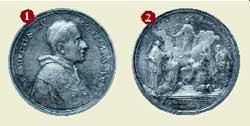 Qui sopra e nell'immagine seguente, alcune medaglie annuali del pontificato di Bendetto XV