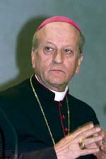 Archbishop Franc Rodé, Lazarist,  Prefect for the Religious since February 2004