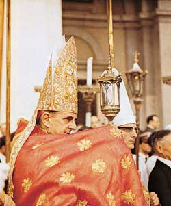 Montini during the Corpus Christi procession in Milan