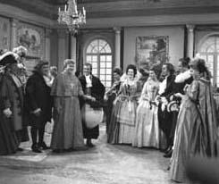 Una foto di scena dello sceneggiato televisivo  Il cardinale Lambertini, interpretato da Gino Cervi