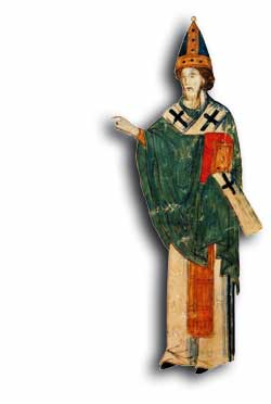 Papa Leone IX (1049-1054), miniatura tratta da un manoscritto greco del XV secolo, Biblioteca Nazionale, Palermo