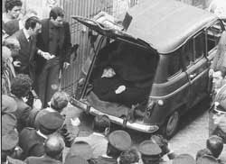 The finding of Aldo Moro's body in Via Caetani,  9 May 1978