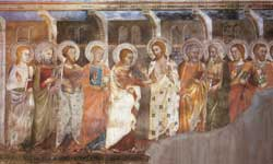 Doubting Thomas, fourteenth-century Master of the Sacro Speco, Upper Church, Subiaco